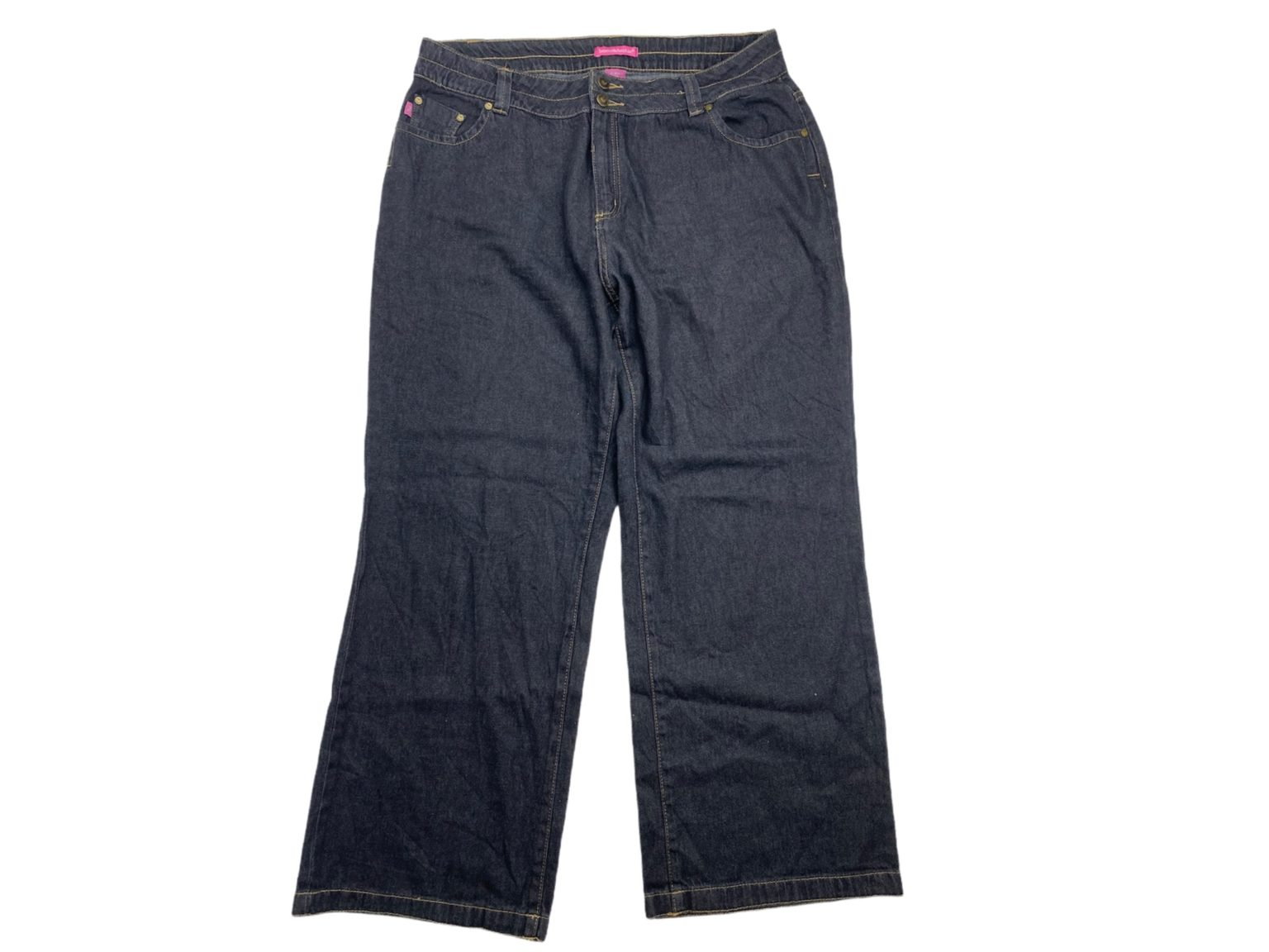 Pantalon Jean Mujer Largo Color Gris Hilo Khaki Dos ...